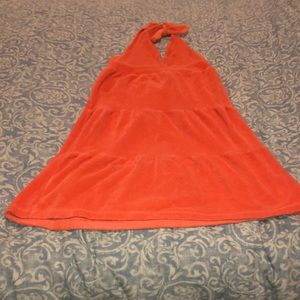 Girls terry cloth swimsuit cover up